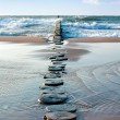 Sea groyne - Stock Photo