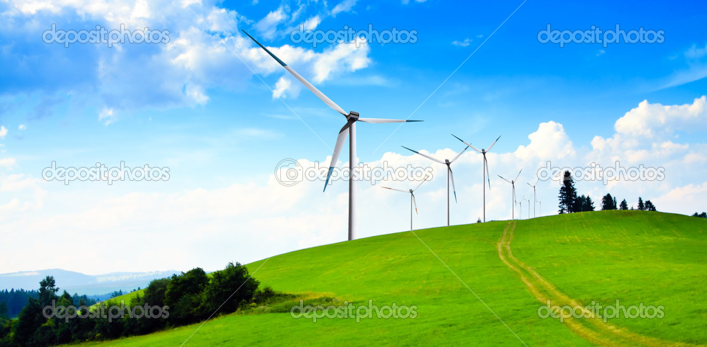 Wind turbines panorama — Stock Photo © WDGPhoto #2561013