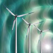 Windmill background — Stock Photo