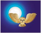 フクロウ — ストックベクタ