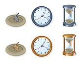 Set of clocks — Vettoriale Stock