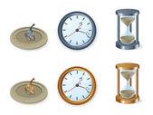 Zestaw zegarów — Wektor stockowy