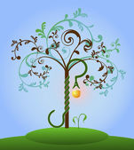 Bible tree of knowledge — Vector de stock