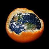 全球变暖和臭氧破坏 — 图库照片