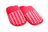 Red slippers isolated on white — Stock Photo