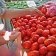 Buying tomato — Stock Photo