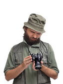 Dissatisfied photographer — Stock Photo