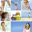 Baby collage - Foto Stock