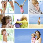Collage di bambino — Foto Stock