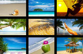 Tropic collage — Foto Stock