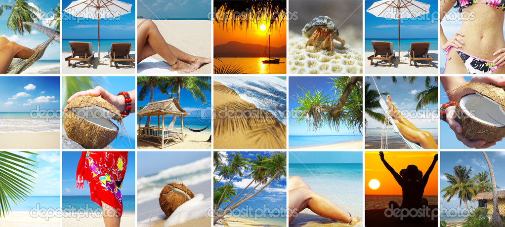 Summertime theme photo collage composed of few images — Stock Photo #2429153