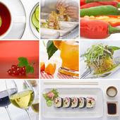Colagem de comida — Foto Stock