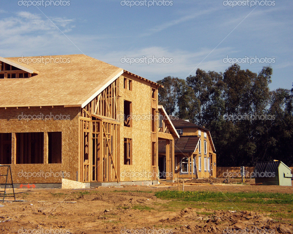 New homes under construction — Stock Photo #1858465
