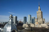 Palace of culture and sciencein Warsaw — Stock Photo