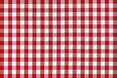 Detailed red picnic cloth — Stock Photo