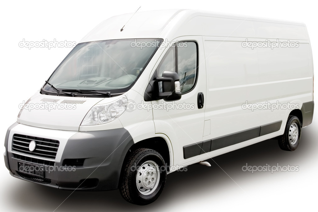 White van on white background — Stock Photo #1851363