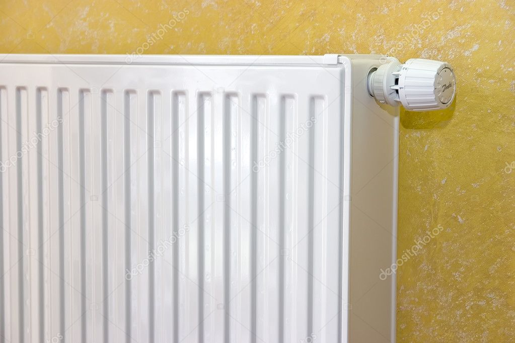 Radiator with radiator thermostat set   Stock Photo #1902359