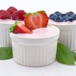 Yogurt and Fruit — Stock Photo