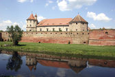 Fagaras Fortress, old building reflected — Stock Photo