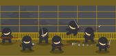 Ninja — Stock Vector