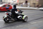 Police motor cycle — Stock Photo