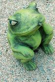 Rana verde es una fuente — Foto de Stock