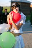 Beautiful young romantic girl — Stock Photo