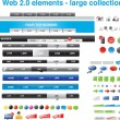 Stok Vektör: Web 2.0 elements - large collection
