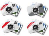 Iconos de cámara — Vector de stock