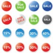 Royalty-Free Stock Vectorielle: Designed stickers