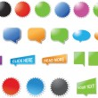 Vector de stock : Modern designed stickers and bubbles