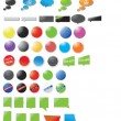 Modern designed stickers and bubbles — Stock Vector
