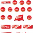 Vector de stock : Sale elements