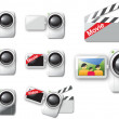 Royalty-Free Stock Vector Image: Videocameras