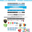 Royalty-Free Stock Imagen vectorial: Web 2.0 elements - mixed collection
