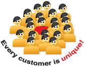 Müşterinin benzersiz — Stok Vektör