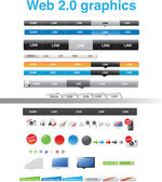 Web 2.0 graphics — Vettoriale Stock