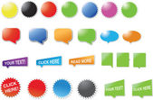Modern ontworpen stickers en bubbels — Stockvector
