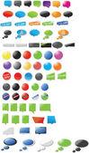 современный дизайн наклейки и пузыри — Cтоковый вектор
