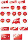 продажа элементов — Cтоковый вектор