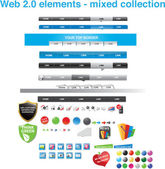 Web 2.0 elements - mixed collection — Stock Vector