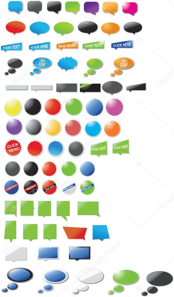 Modern designed stickers and bubbles — Stock Vector #1913861
