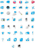 Web 2.0 iconen — Stockvector
