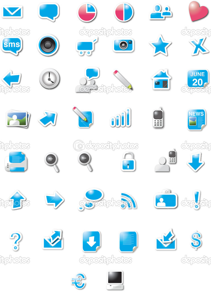 Modern designed web 2.0 icons  Imagen vectorial #2025262