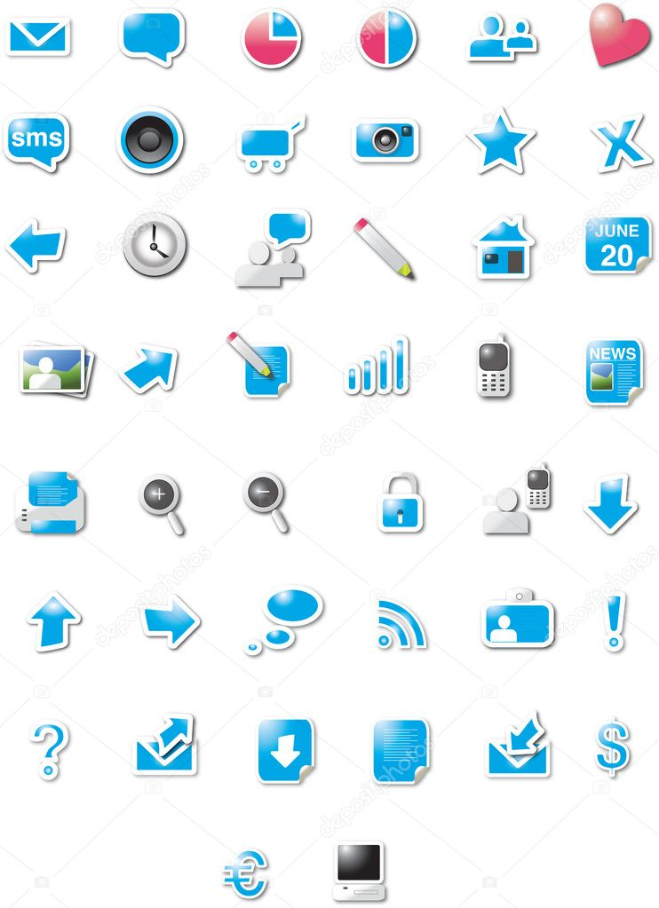 Modern designed web 2.0 icons  Grafika wektorowa #2025262