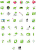 Web 2.0 icons - green edition — Vector de stock