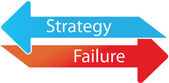 Strategy or failure — Stock Vector