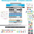 Stock Vector: Webdesigners toolkit collection