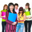 Casual teacher and her students - Stock Photo