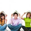 Group of students studing together — Stock Photo